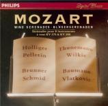 MOZART - Holliger - Sérénade n°11, pour instruments à vent en mi bémol m