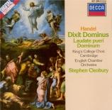 HAENDEL - Cleobury - Dixit Dominus (Psaume 110), psalm setting pour sopr