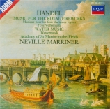 HAENDEL - Marriner - Music for the royal fireworks, suite pour orchestre