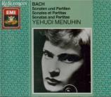BACH - Menuhin - Sonates et partitas pour violon seul BWV 1001-1006