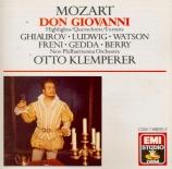 MOZART - Klemperer - Don Giovanni K.527 : extraits