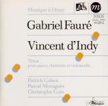 FAURE - Cohen - Trio pour violon, violoncelle et piano en ré mineur op.1