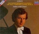 BACH - Schiff - Le clavier bien tempéré, Livre 2 BWV 870-893