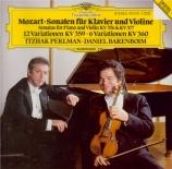 MOZART - Perlman - Sonate pour violon et piano n°24 en fa majeur K.376 (