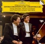 MOZART - Perlman - Sinfonia concertante pour violon, alto et orchestre e