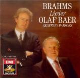 BRAHMS - Bär - Sechs Gesänge, six mélodies pour voix solo et piano op.3