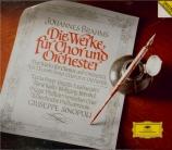 Die Werke für Chor und Orchester