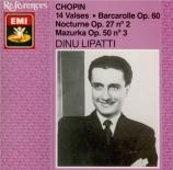 CHOPIN - Lipatti - Barcarolle pour piano en fa dièse majeur op.60