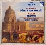 PALESTRINA - Preston - Missa