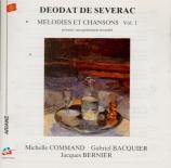 Mélodies et chansons Vol.1 (1er enregistrement mondial)