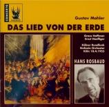 MAHLER - Rosbaud - Das Lied von der Erde (Le chant de la terre), pour té
