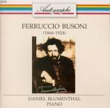 BUSONI - Blumenthal - Dix variations sur un prélude de Chopin BV.213a