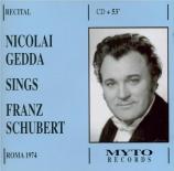 SCHUBERT - Gedda - Dem Unendlichen (Klopstock), lied pour voix et piano