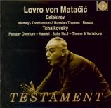 BALAKIREV - Matacic - Ouverture on three Russian songs