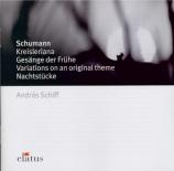 SCHUMANN - Schiff - Gesänge der Frühe (Chants de l'aube), cinq pièces po