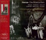 HENZE - Dohnanyi - Die Bassariden (live Salzburg 6 - 8 - 66) live Salzburg 6 - 8 - 66