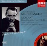 MOZART - Michelangeli - Concerto pour piano et orchestre n°13 en do maje