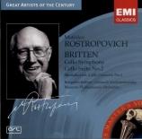 BRITTEN - Rostropovich - Cello symphony, pour violoncelle et orchestre o
