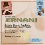 VERDI - Previtali - Ernani, opéra en quatre actes (25 - 06 - 1950) 25 - 06 - 1950