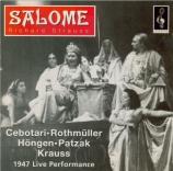 STRAUSS - Krauss - Salomé, opéra op.54 live Coven Garden, London, 30 - 9 - 1947