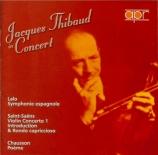 SAINT-SAËNS - Thibaud - Concerto pour violon n°1 op.20