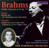 BRAHMS - Schmidt-Isserst - Concerto pour violon et orchestre en ré majeu