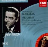 BRAHMS - Hotter - Ein deutsches Requiem (Un Requiem allemand), pour soli