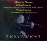 GRIEG - Elman - Sonate pour violon et piano n°1 op.8