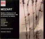 MOZART - Adam - Bastien et Bastienne K.50