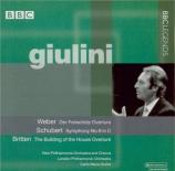 WEBER - Giulini - Der Freischütz : ouverture