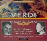 VERDI - Mitropoulos - La forza del destino, opéra en quatre actes (versi