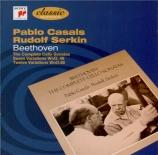 BEETHOVEN - Casals - Sept variations pour violoncelle et piano sur 'Die