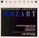 MOZART - Ristenpart - Sérénade n°13, pour orchestre en sol majeur K.525