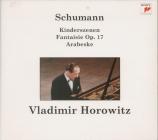 SCHUMANN - Horowitz - Kinderszenen (Scènes d'enfants), treize pièces pou