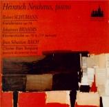 SCHUMANN - Neuhaus - Kreisleriana, pour piano op.16