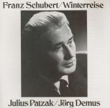 SCHUBERT - Patzak - Winterreise (Le voyage d'hiver) (Müller), cycle de m