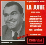 HALEVY - Schroder - La juive (Frankfurt, 6 - 9 - 1951 en allemand) Frankfurt, 6 - 9 - 1951 en allemand