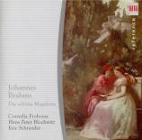 BRAHMS - Blochwitz - Fünfzehn Romanzen (Tieck), quinze romances pour une