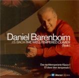 BACH - Barenboim - Le clavier bien tempéré, Livre 1 BWV 846-869