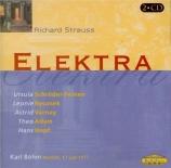 STRAUSS - Böhm - Elektra, opéra op.58 (live München, 17 - 7 - 1977) live München, 17 - 7 - 1977