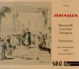 VERDI - Gavazzeni - Jérusalem, opéra en quatre actes (version originale live 20 - 12 - 1975 Torino