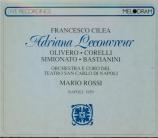 CILEA - Rossi - Adriana Lecouvreur (Live Napoli 28 - 11 - 1959) Live Napoli 28 - 11 - 1959