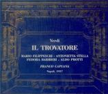 VERDI - Capuana - Il trovatore, opéra en quatre actes (version originale live Napoli, 7 - 12 - 1957
