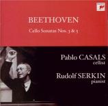 BEETHOVEN - Casals - Sonate pour violoncelle et piano n°5 op.102 n°2