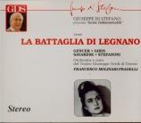 VERDI - Molinari-Pradel - La battaglia di Legnano, opéra en quatre actes Trieste, 08.03.1963
