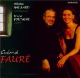 FAURE - Gaillard - Sonate pour violoncelle et piano n°1 en ré mineur op