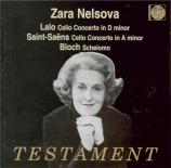 LALO - Nelsova - Concerto pour violoncelle en ré mineur