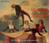MOZART - Busch - Le nozze di Figaro (Les noces de Figaro), opéra bouffe Glyndebourne 1934