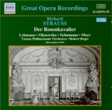 STRAUSS - Heger - Der Rosenkavalier (Le chevalier à la rose) op.59 : ext version abrégée