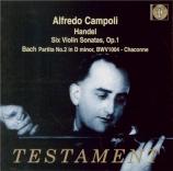 HAENDEL - Campoli - Sonate pour violon en la majeur op.1 n°3 HWV.361